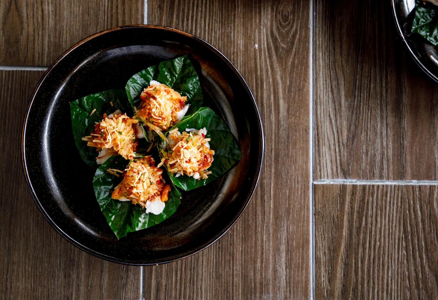 veggie wrap in a bowl