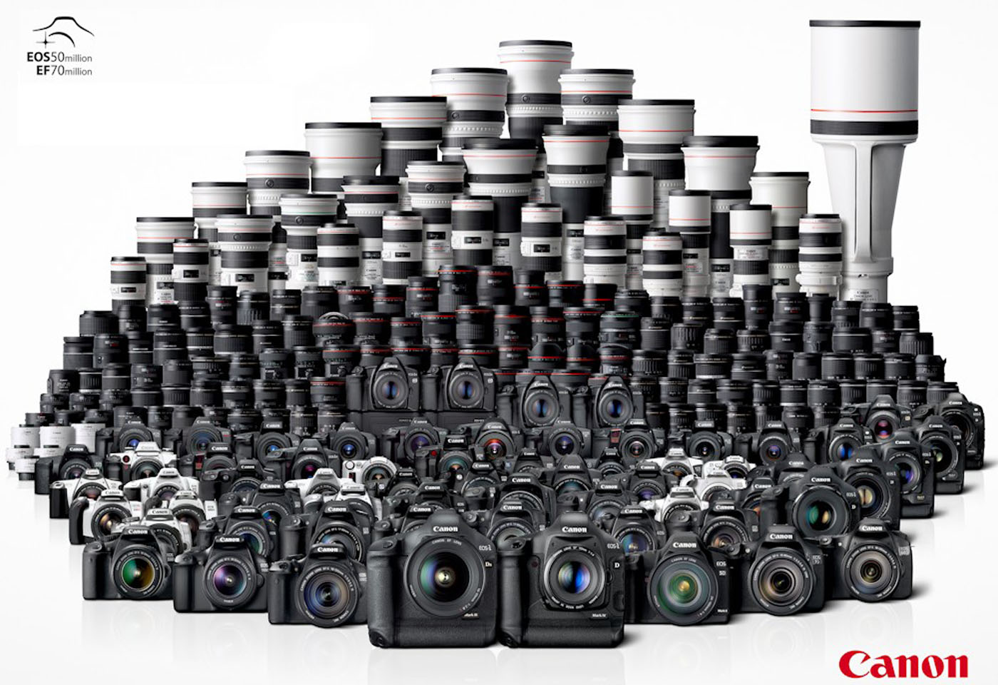 Image of Canon lens and cameras