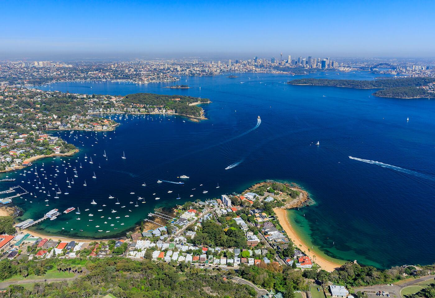 Aerial image of Sydney Harbour