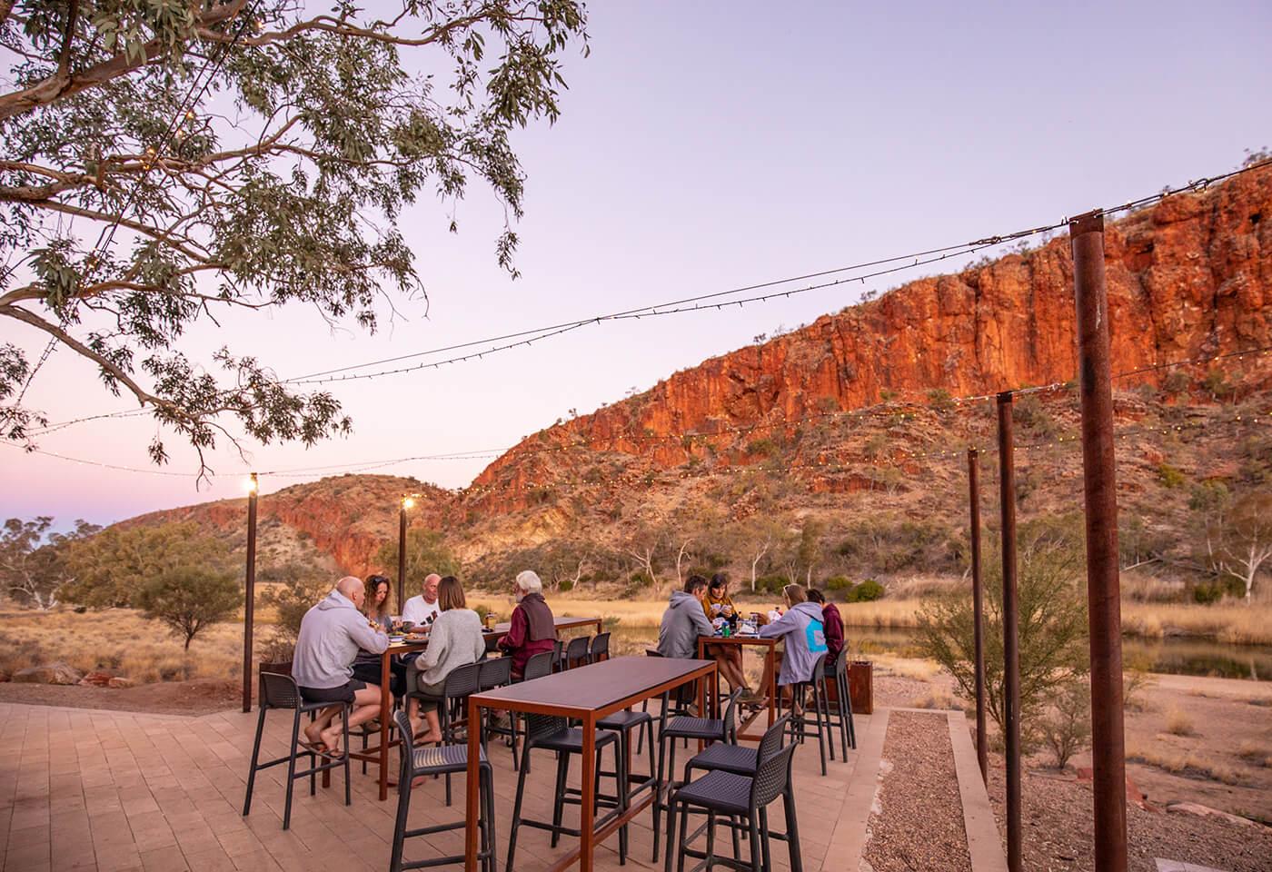 West Macdonnell Ranges at Glen Helen, Alice Springs by Greg Sullavan