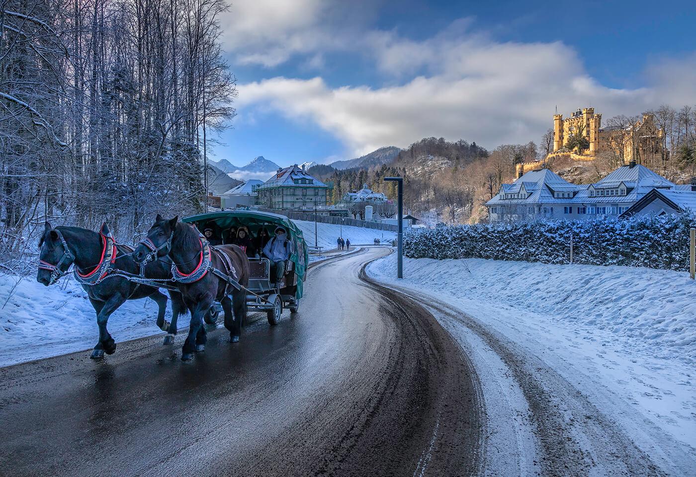 Snowy street by Greg Sullavan