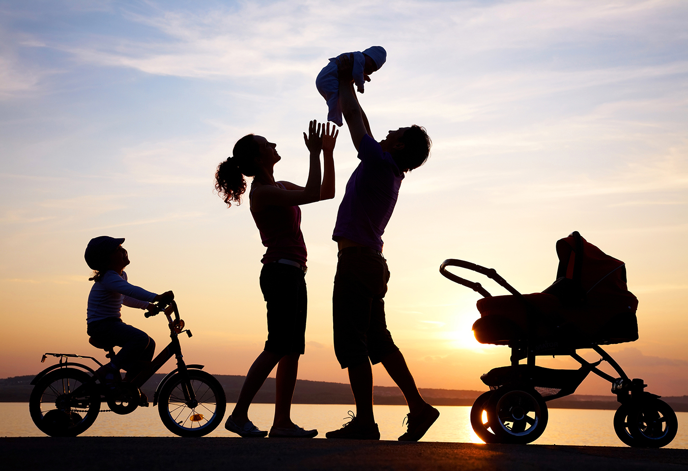 Silhouette family image