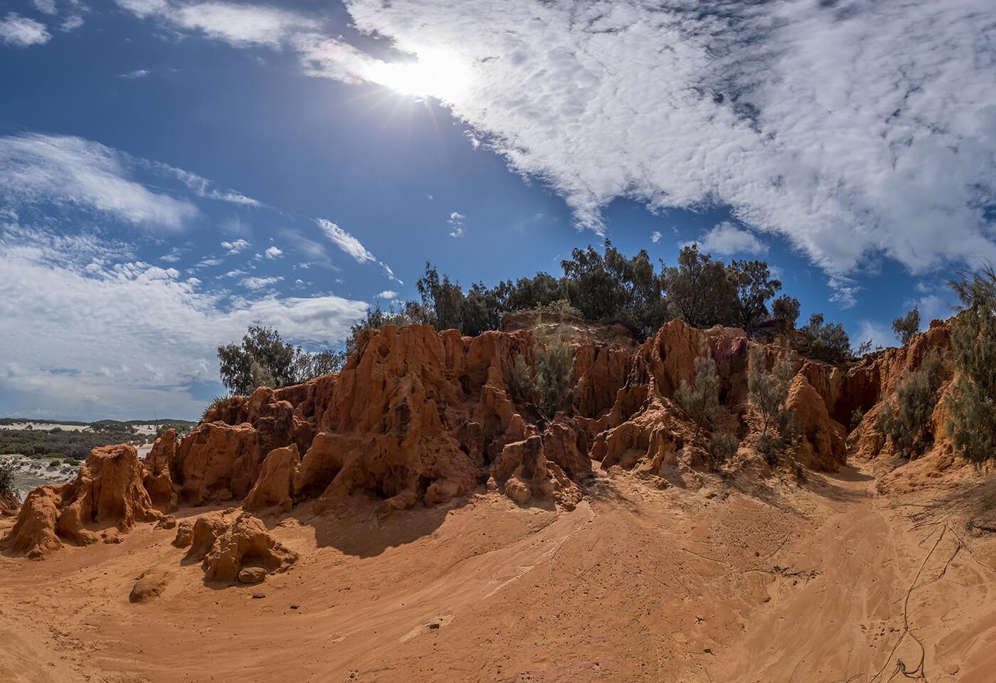 Panoramic image of the desert