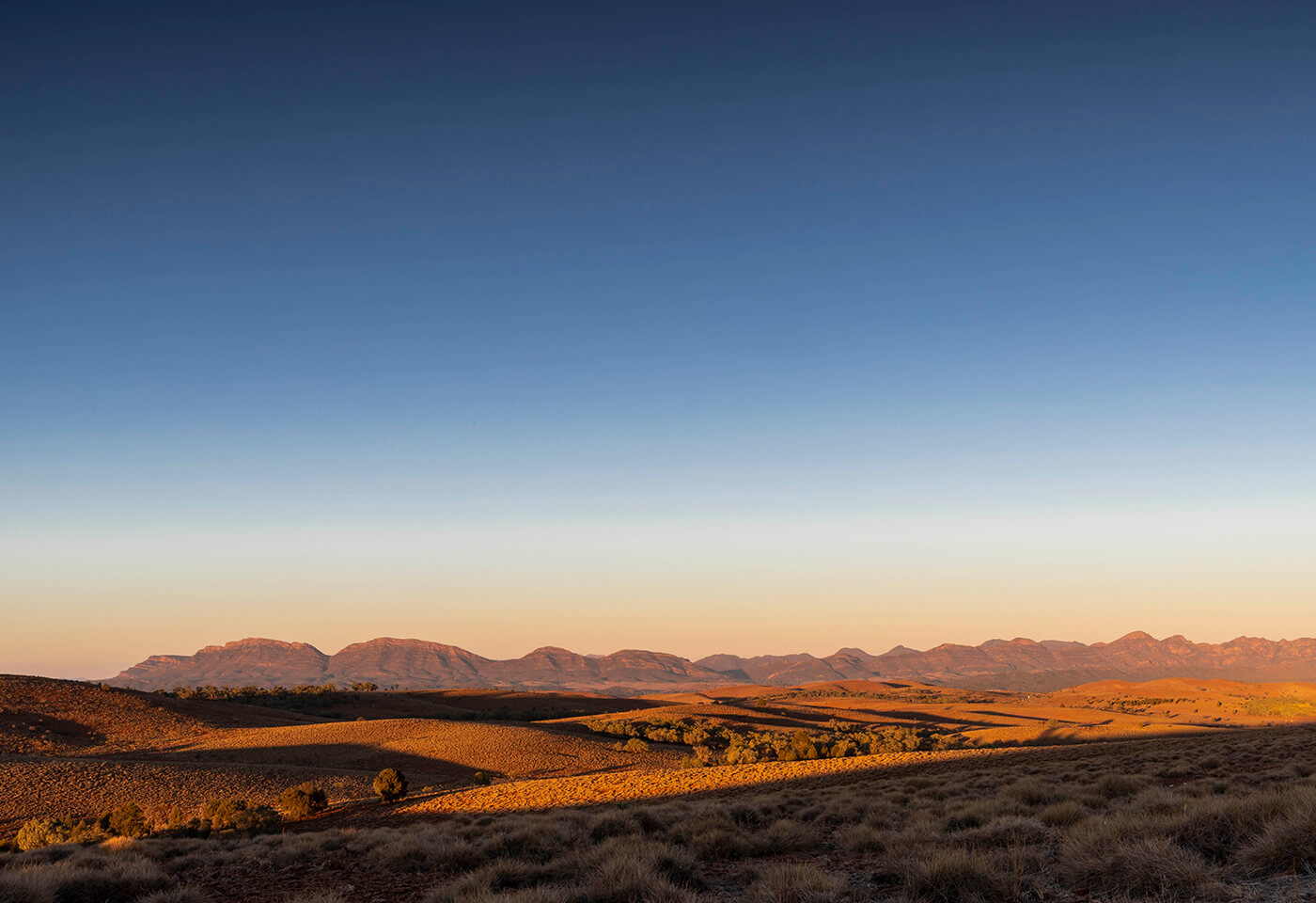 Landscape image of sunset