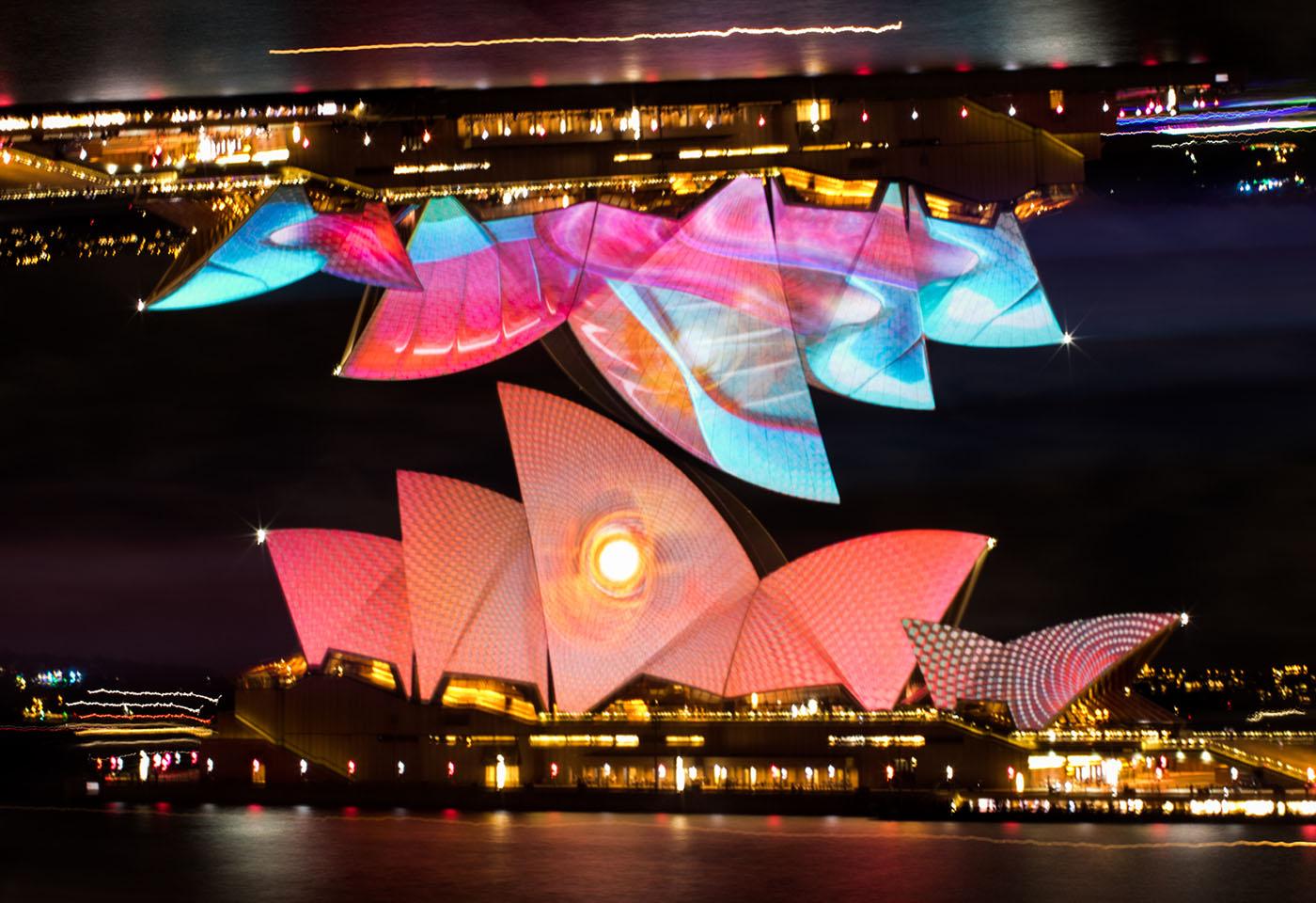 Multiple exposure image of the Sydney Opera House
