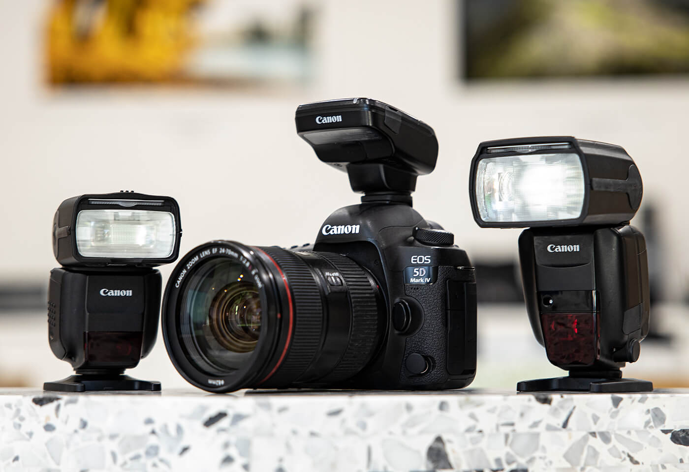 Image of Canon camera and speedlite flashed by Rob Caldwell