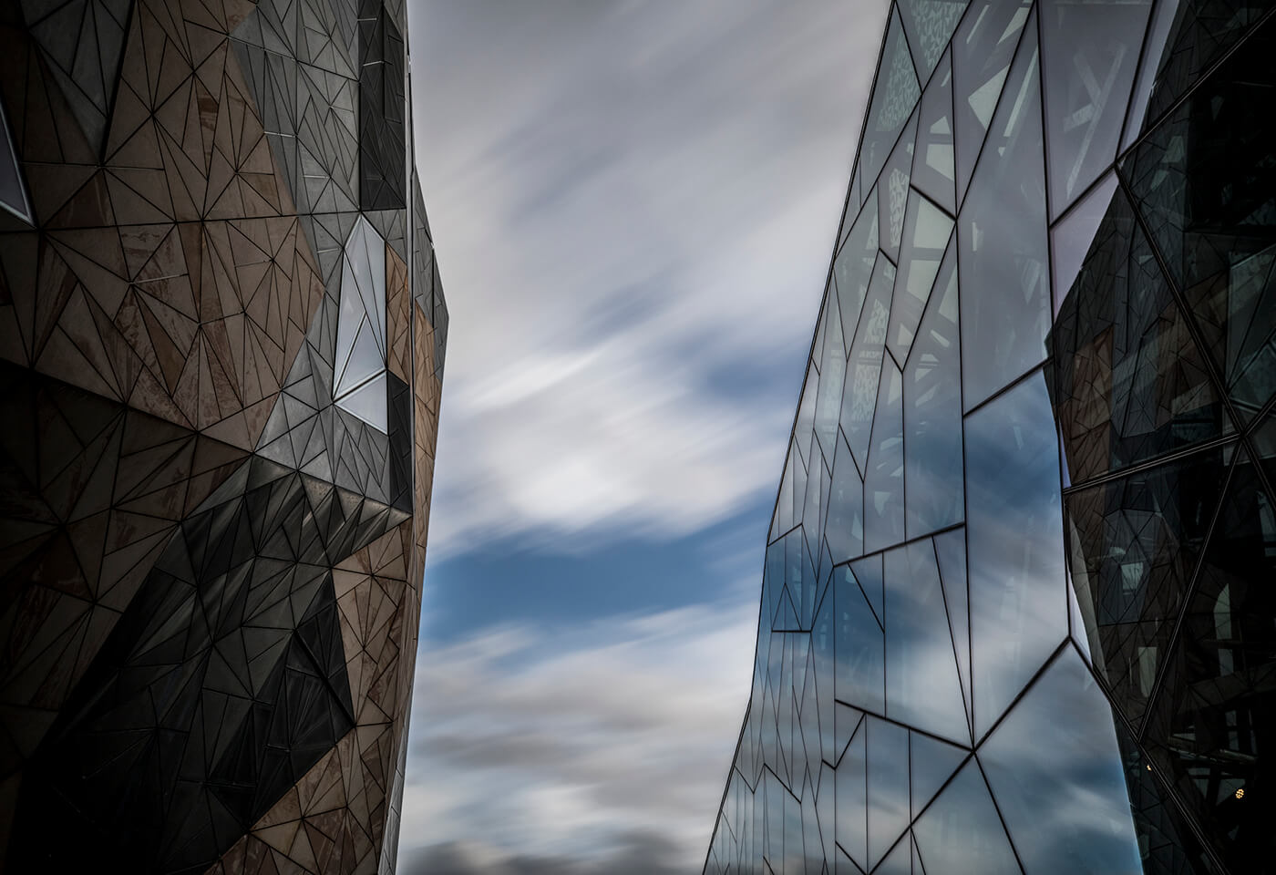 Introduction to lightroom banner image of reflections in two glass buildings