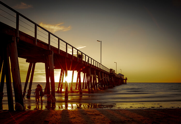 Landscape image of Applecross Jetty at sunset