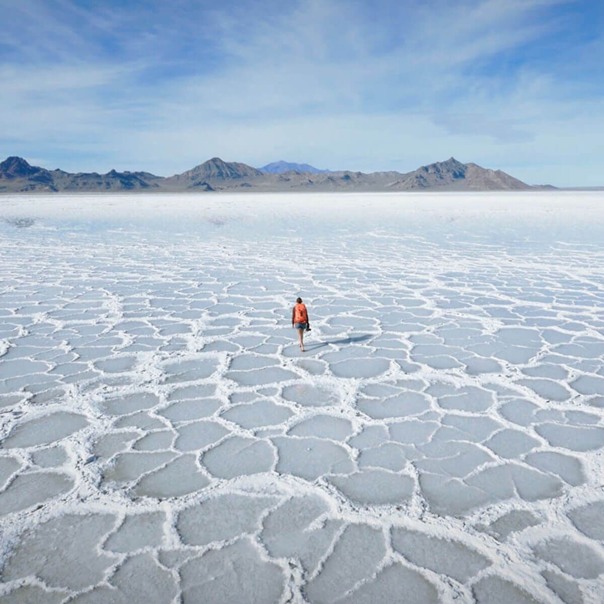 Landscape image of salt lake