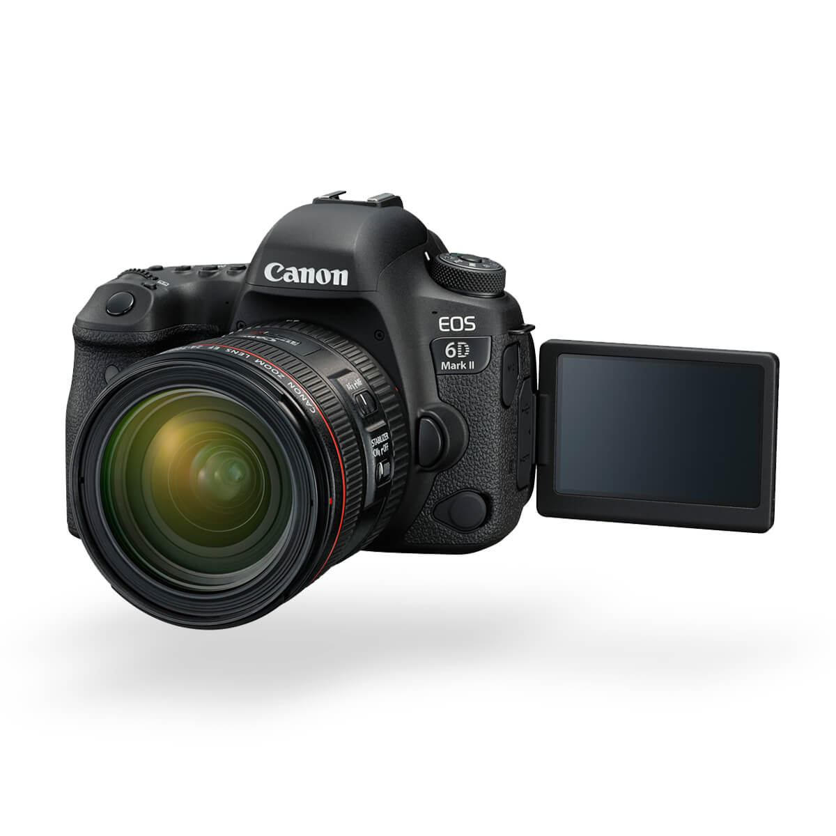Canon EOS 6D Mark II with flip out LCD hero image