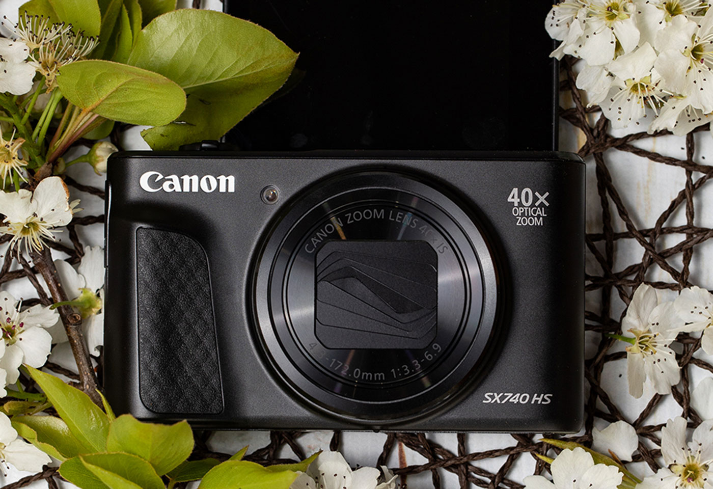 Canon camera product and flat lay image