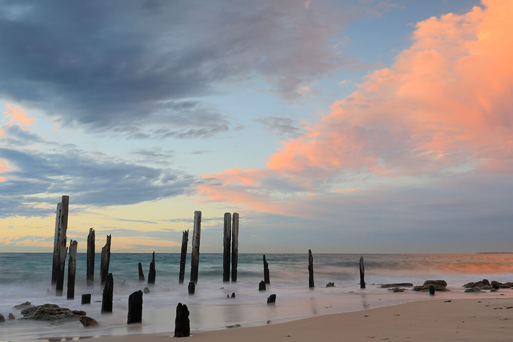 Image of Port Willunga Jetty Pylons by Steve Huddy