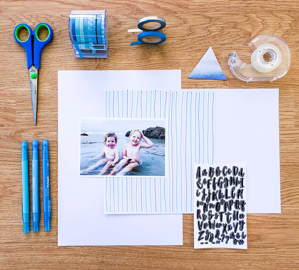 Materials for scrapbooking