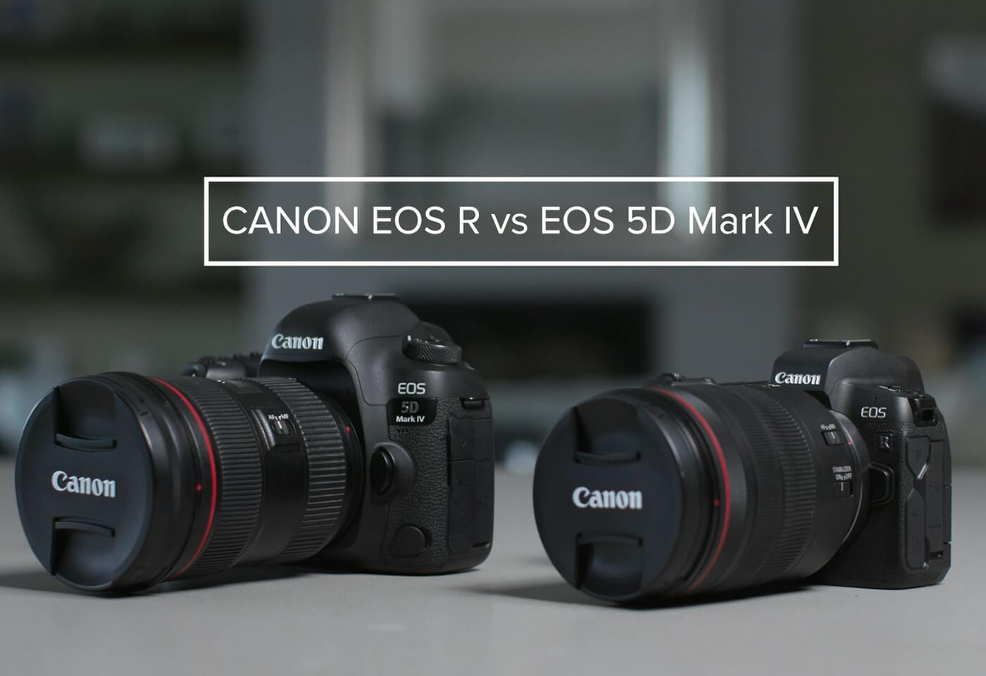Gemma Peanut pits the EOS R against 5D Mark IV