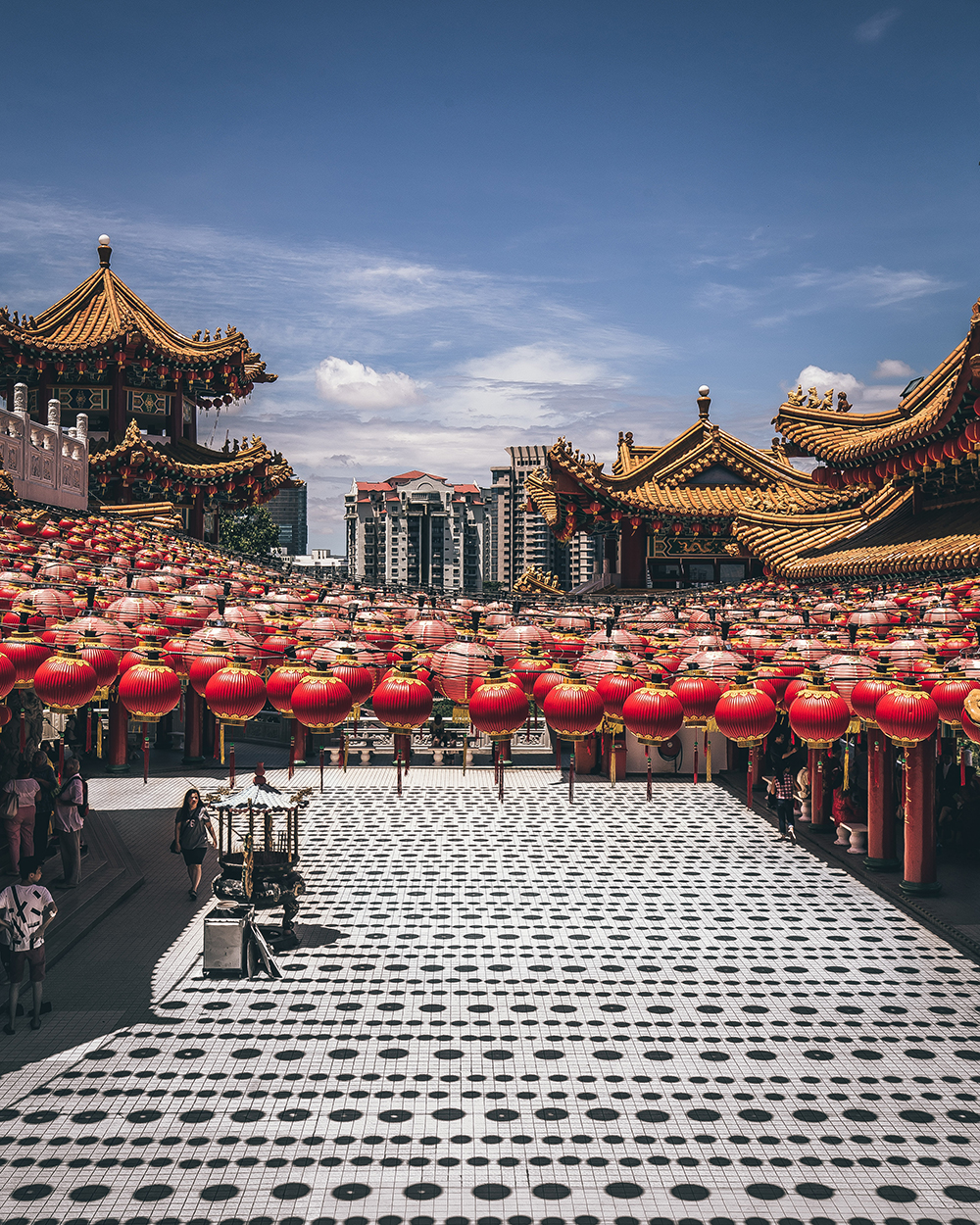 Landscape image of Chinese lanterns by Julian Lallo