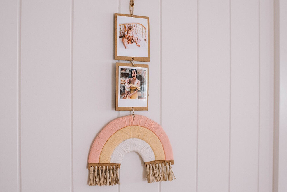 Display Your Finished Rainbow Wall Hanging in Your Home