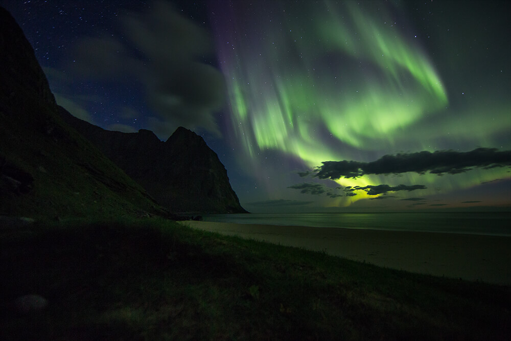 image of the Aurora Borealis. Photo by Neal Bloem