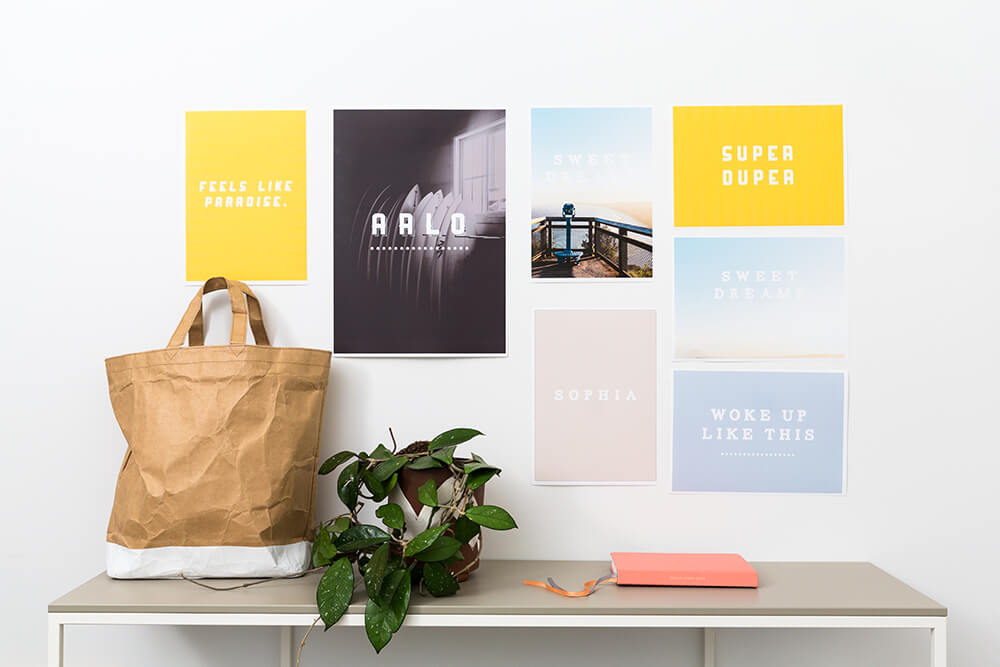 office entry with printed inspiration