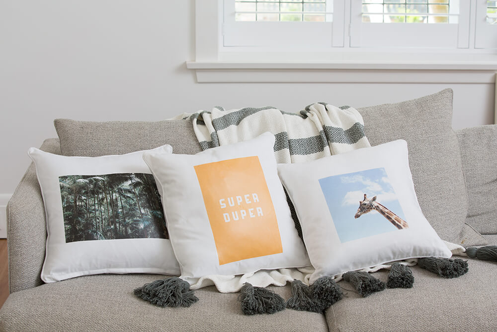 diy home decor idea - cushion designs with transfer paper
