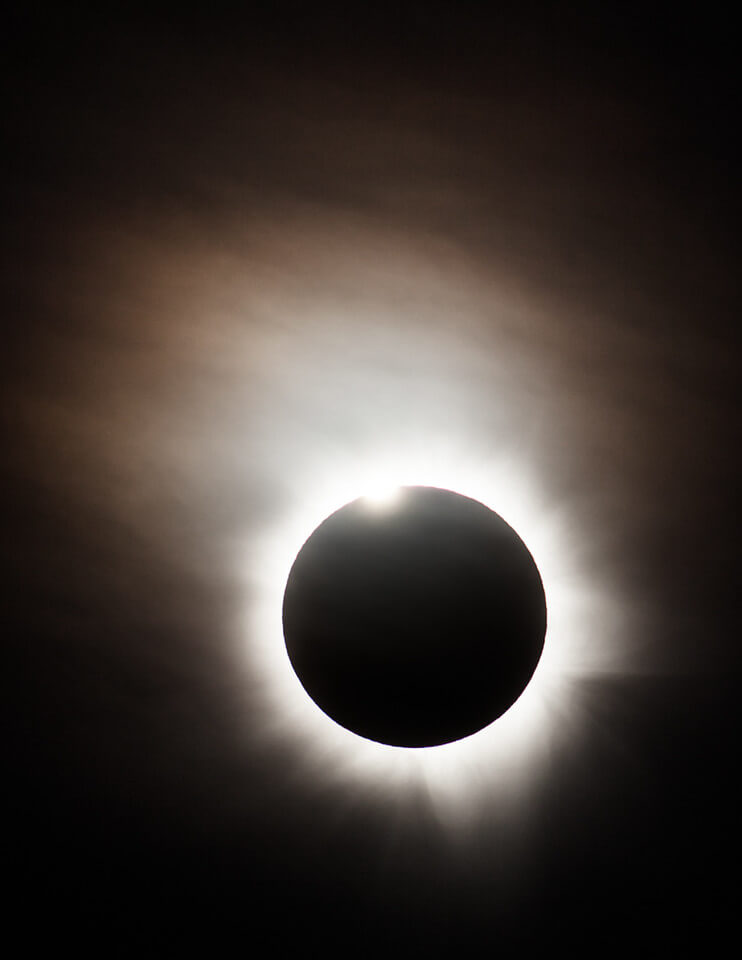 Diamond Ring - Solar eclipse image taken by Phil Hart