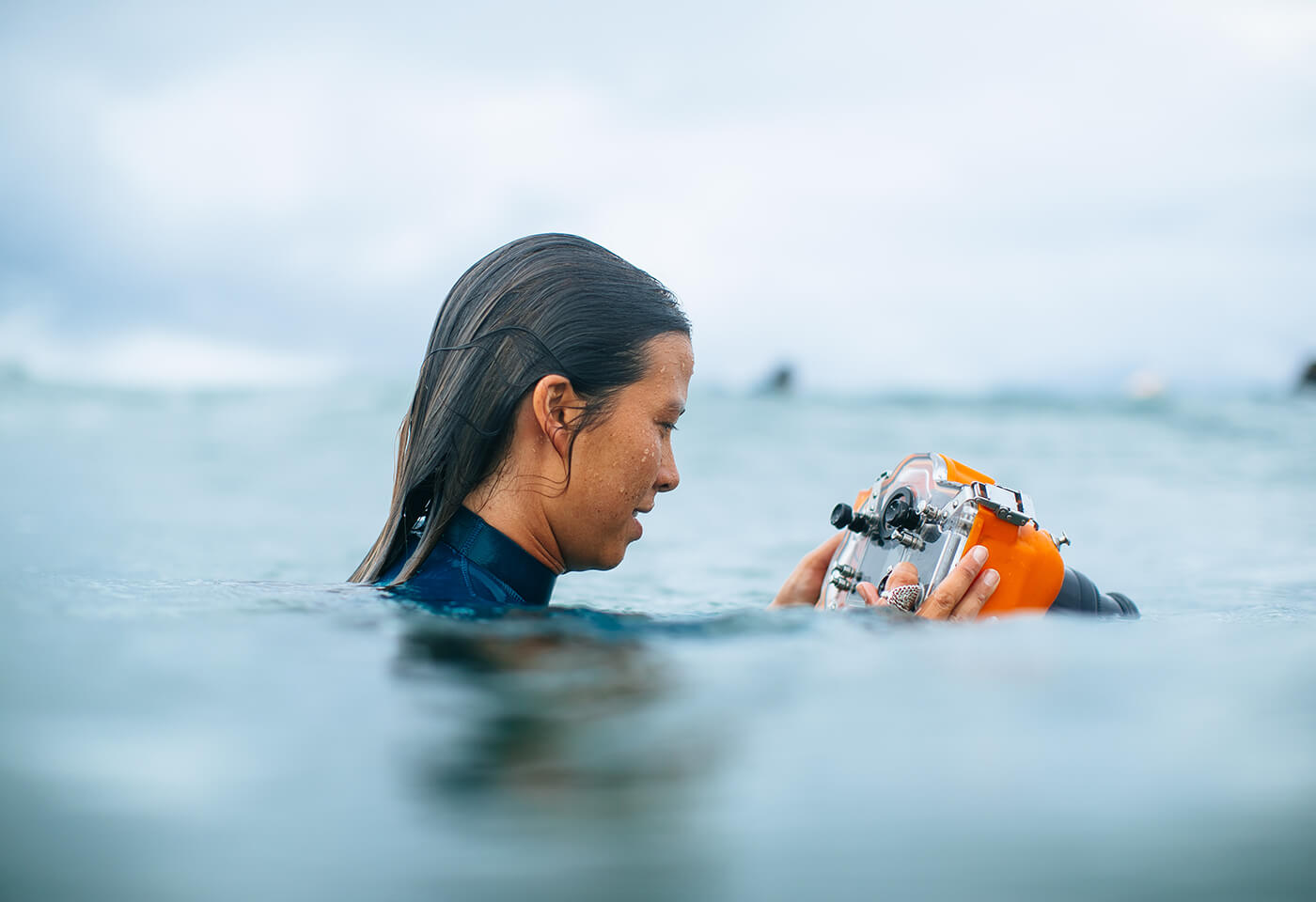 fran miller using an underwater housing – photo by Ed Sloane