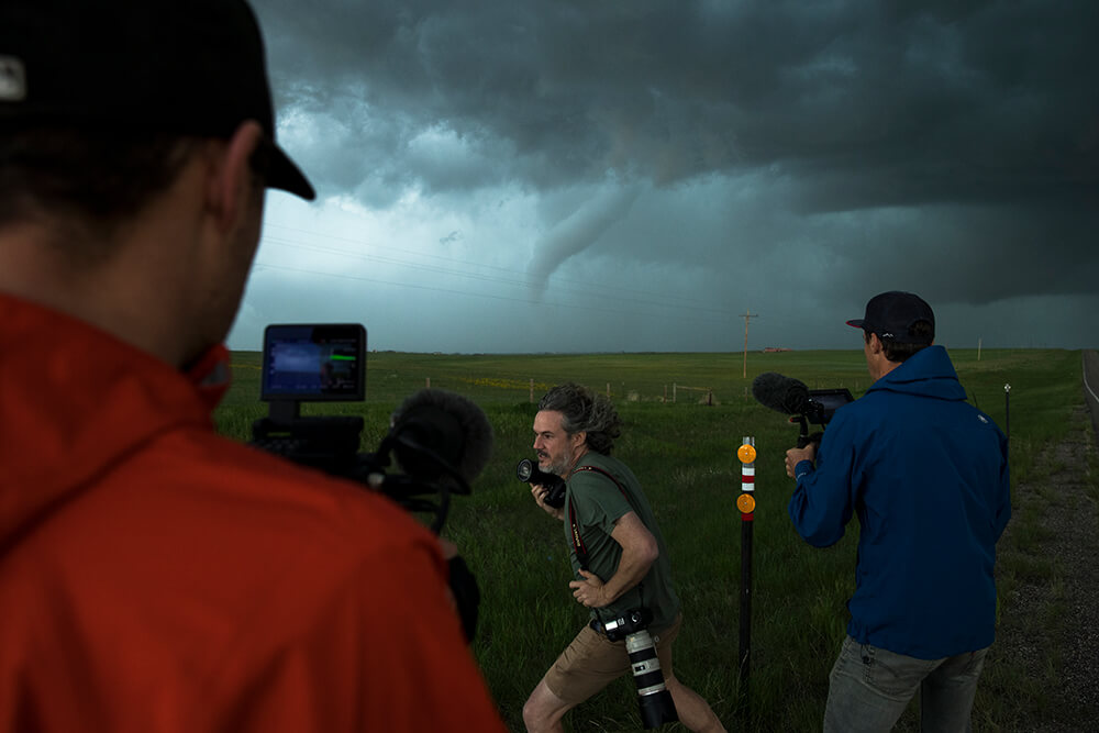 Photographers capturing the tornado