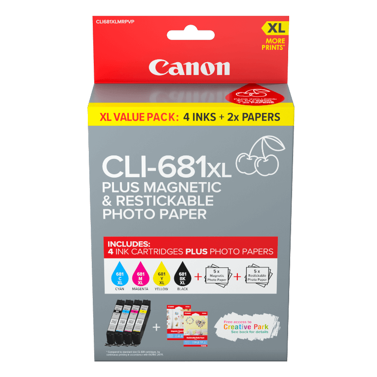 Canon magnetic and restickable photo paper