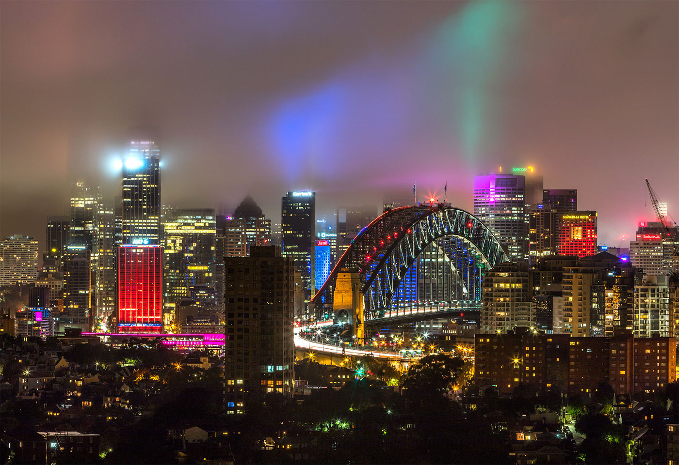 vivid sydney vantage point north sydney image from mohid manchada