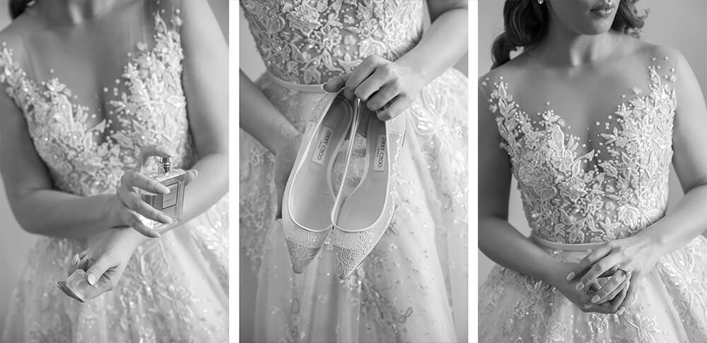 Capturing wedding dress details