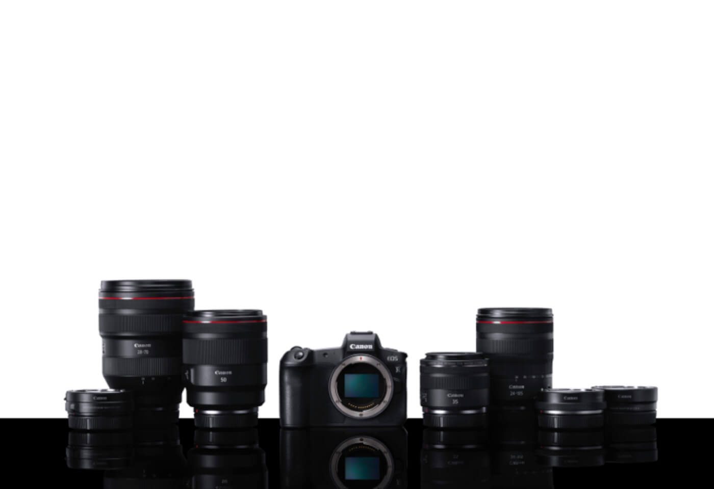 Product image of Canon EOS R and lenses