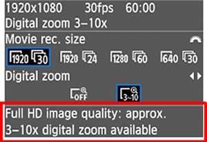 Digital Zoom Function
