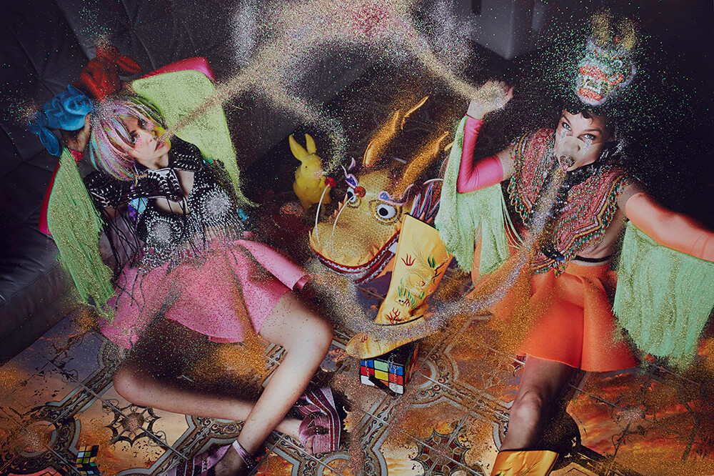 Image of women with glitter