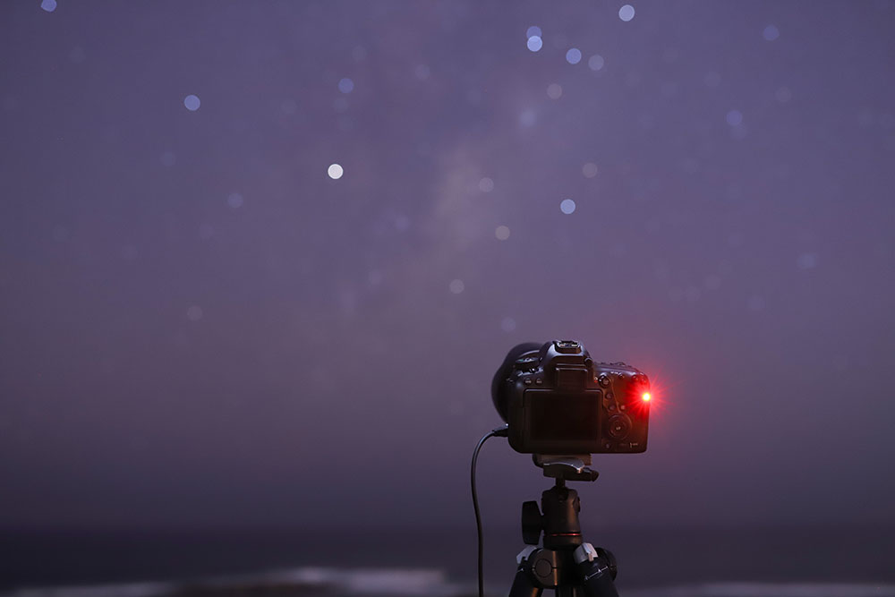 Shooting an astro time lapse with a shutter release