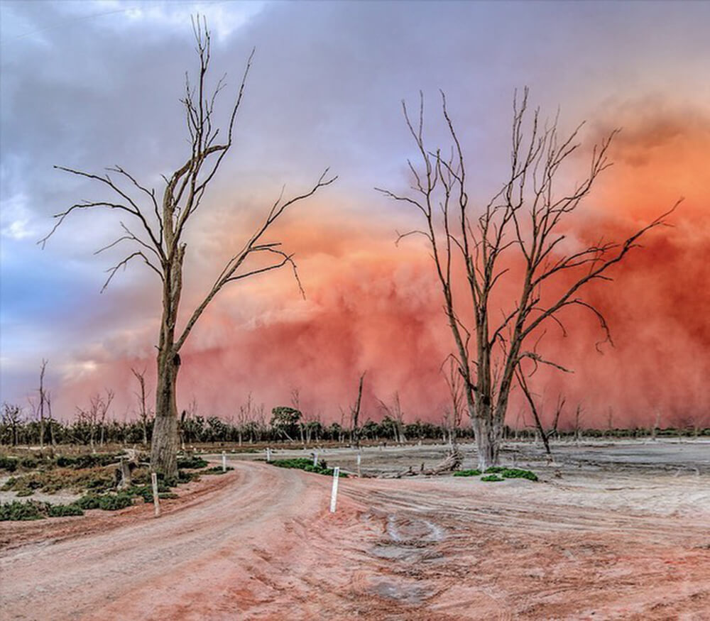 Storm at Mildura captured by Trevor Green