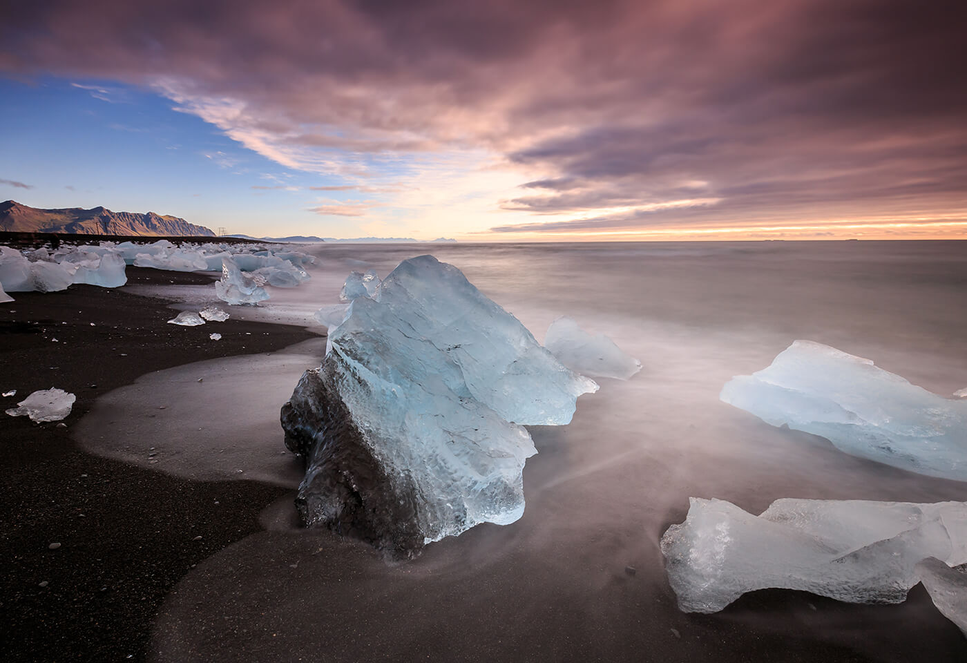Image of icy formations on a beach by photographer Mitch Pearson-Goff