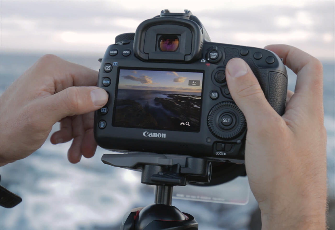 Lifestyle image of Canon Camera in use