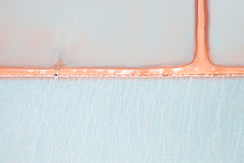 Image 1 of Salt Series - Aerial photographs of evaporation ponds by Peter Franc