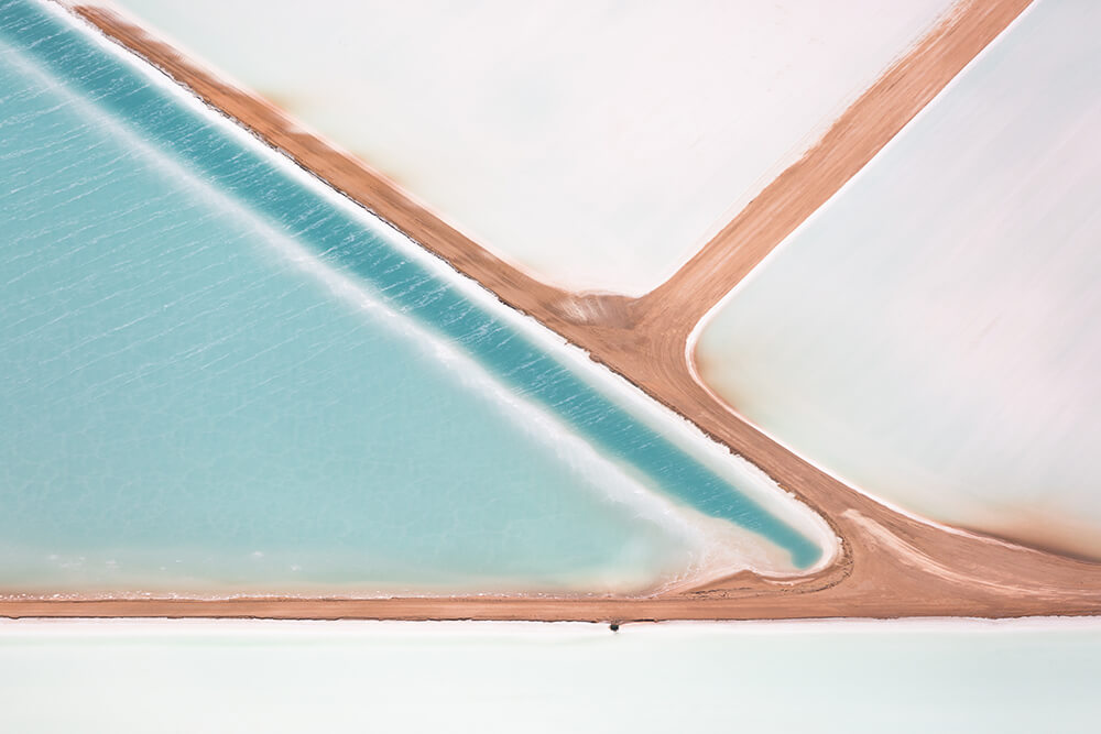 Image 13 of Salt Series - Aerial photographs of evaporation ponds by Peter Franc