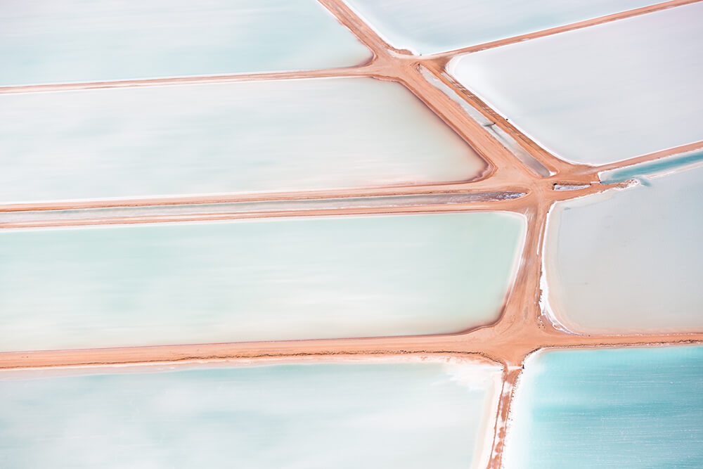 Image 15 of Salt Series - Aerial photographs of evaporation ponds by Peter Franc