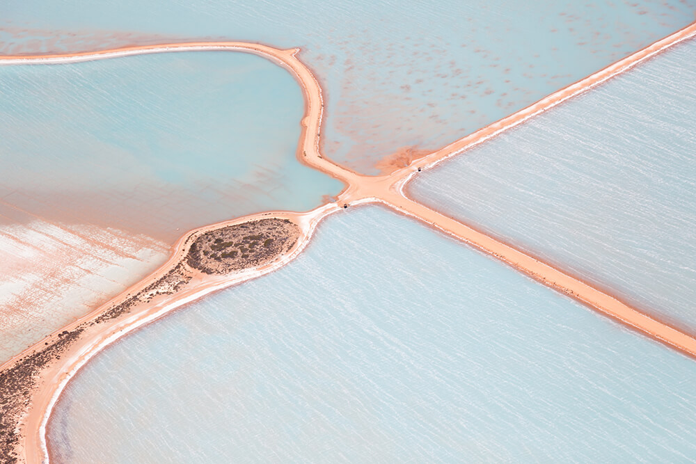 Image 2 of Salt Series - Aerial photographs of evaporation ponds by Peter Franc