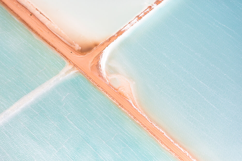 Image 5 of Salt Series - Aerial photographs of evaporation ponds by Peter Franc