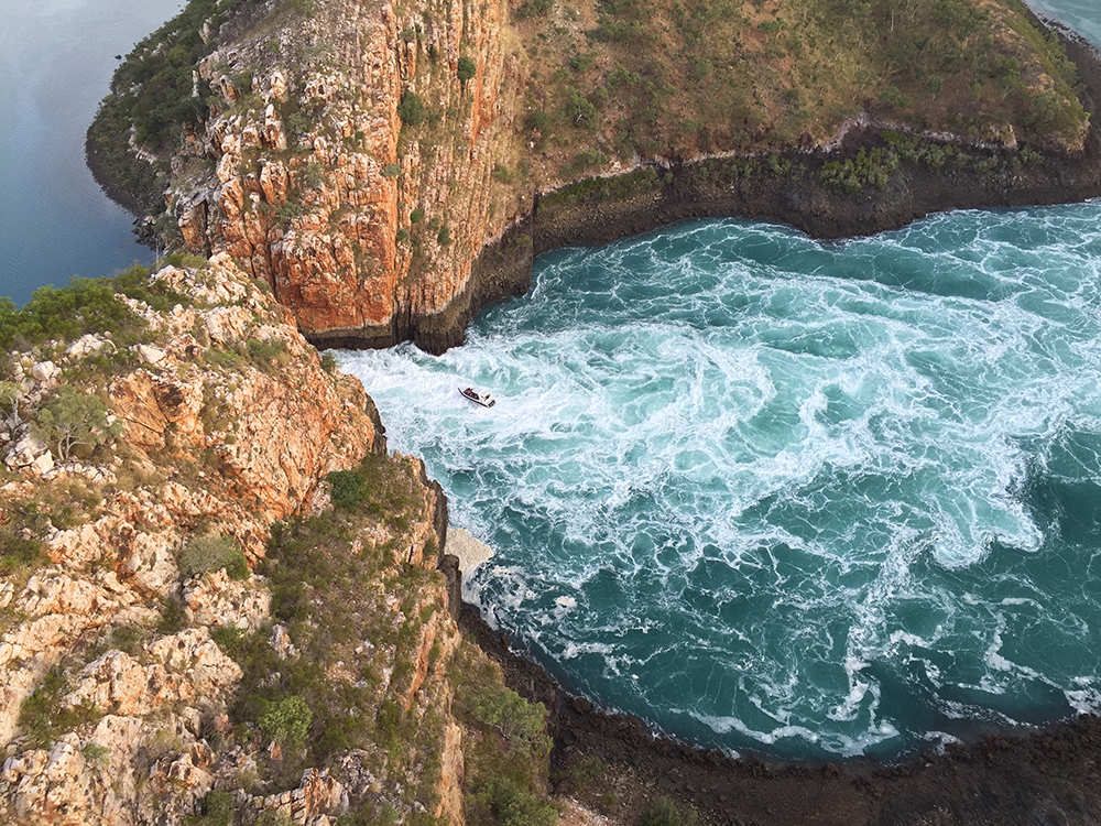 Aerial photo of Horizontal Falls taken by Matt Wright