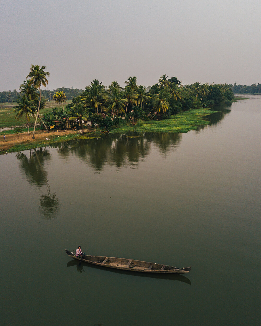 Image of Kerala Backwaters, India. Shot by Melissa Findley