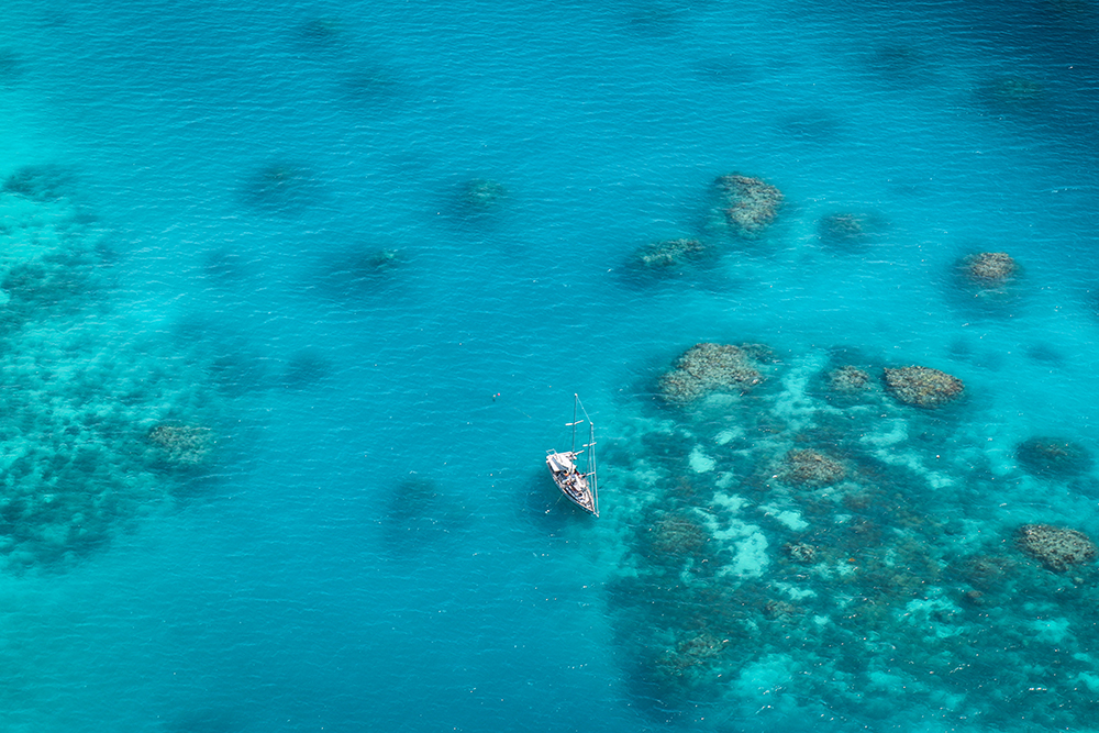Great Barrier Reef aerial shot by Liz Carlson