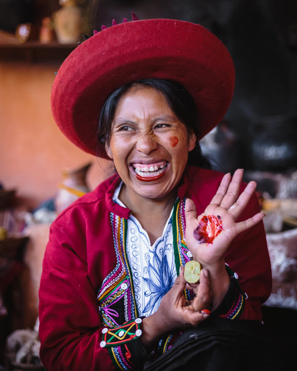 portrait of a Peruvian lady