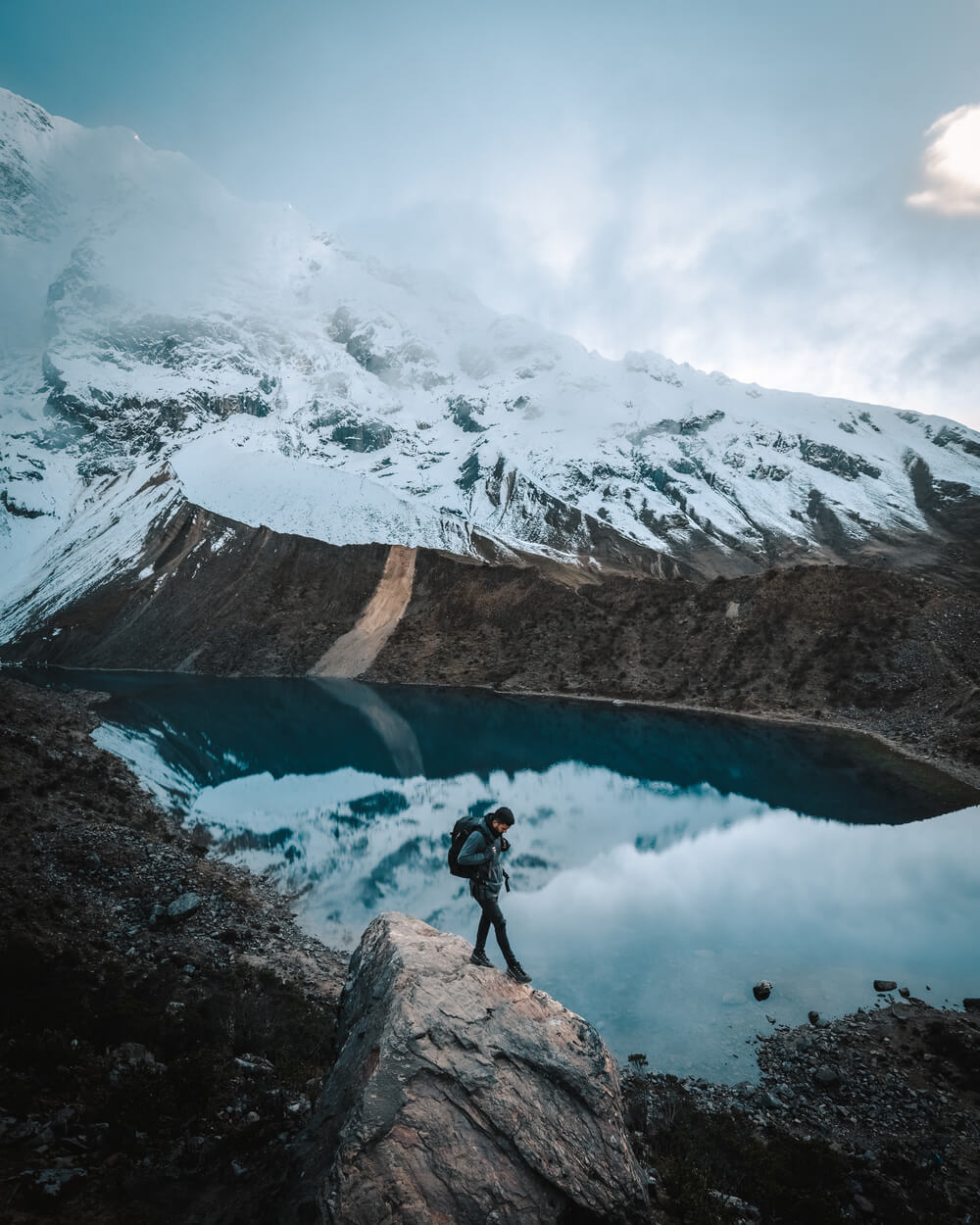 A hiker in Humantay. Photo by Jordan Hammond