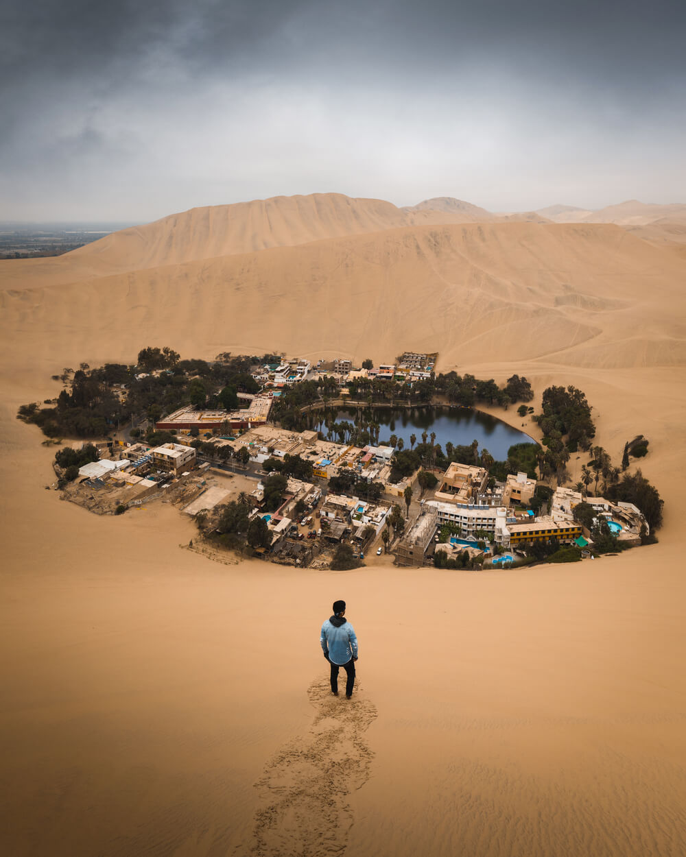 Photo of the Huacachina Desert Oasis. Photo by Jordan Hammond