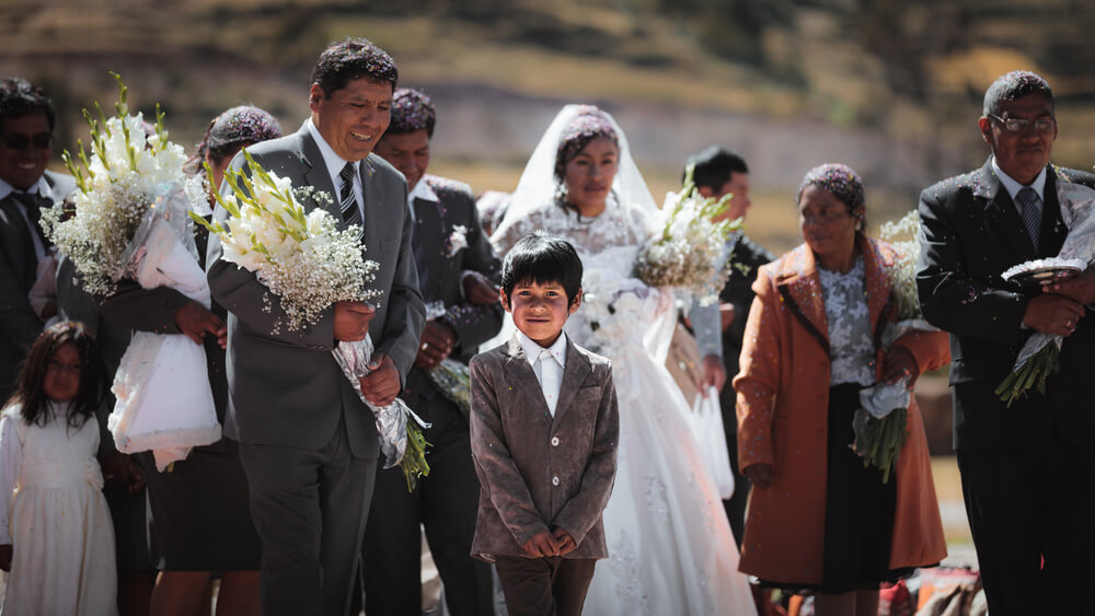 image of a Peruvian wedding