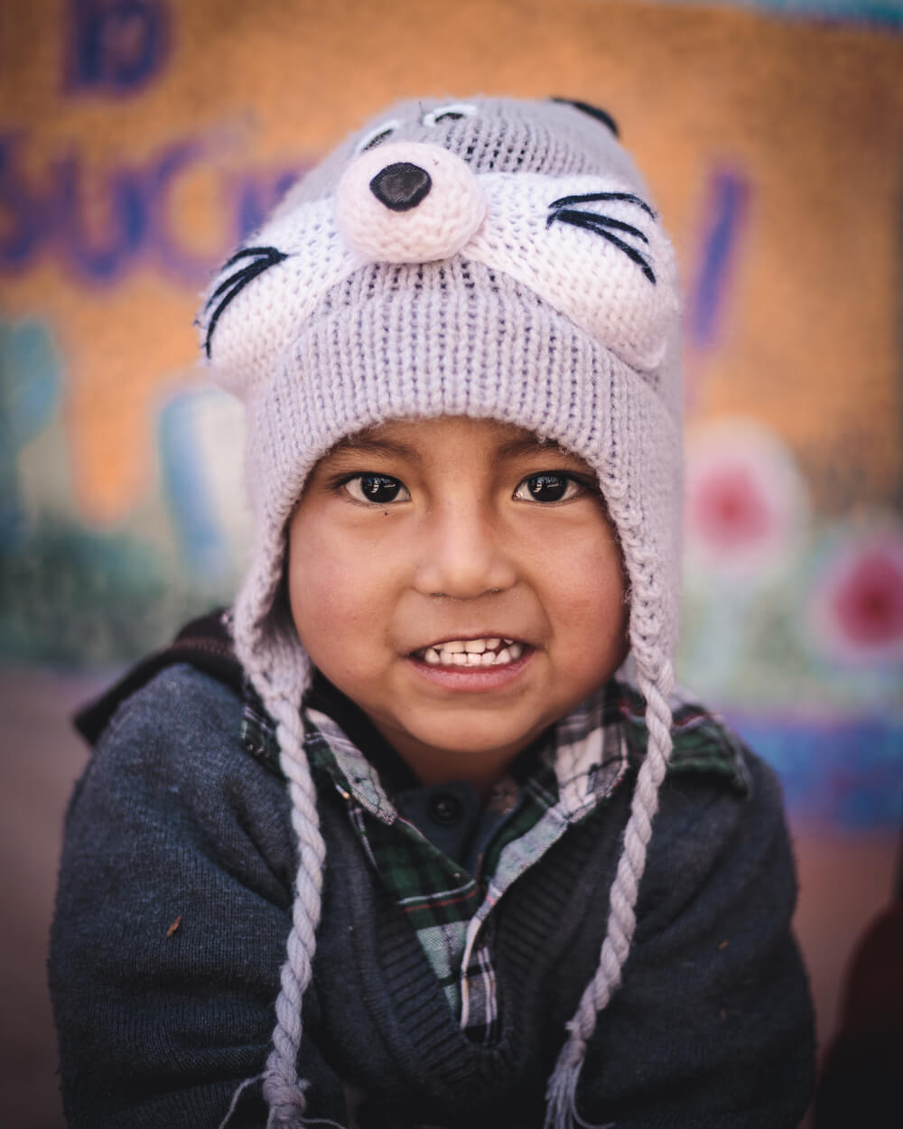 portrait of a Peruvian kid. Image by Jordan Hammond