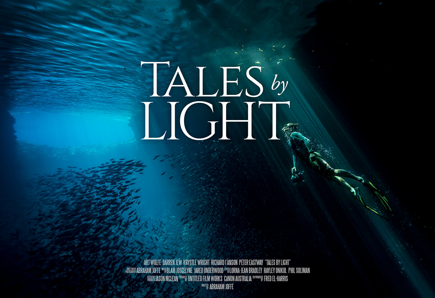 Tales by light image of scuba diver